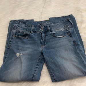 American Eagle artist crop stretch jeans sz 6 Reg